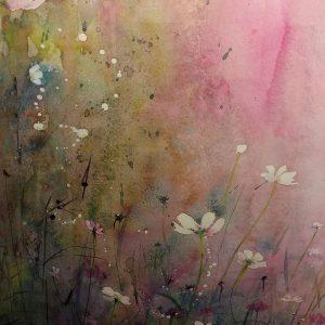 bloemen geschilderd met aquarelverf